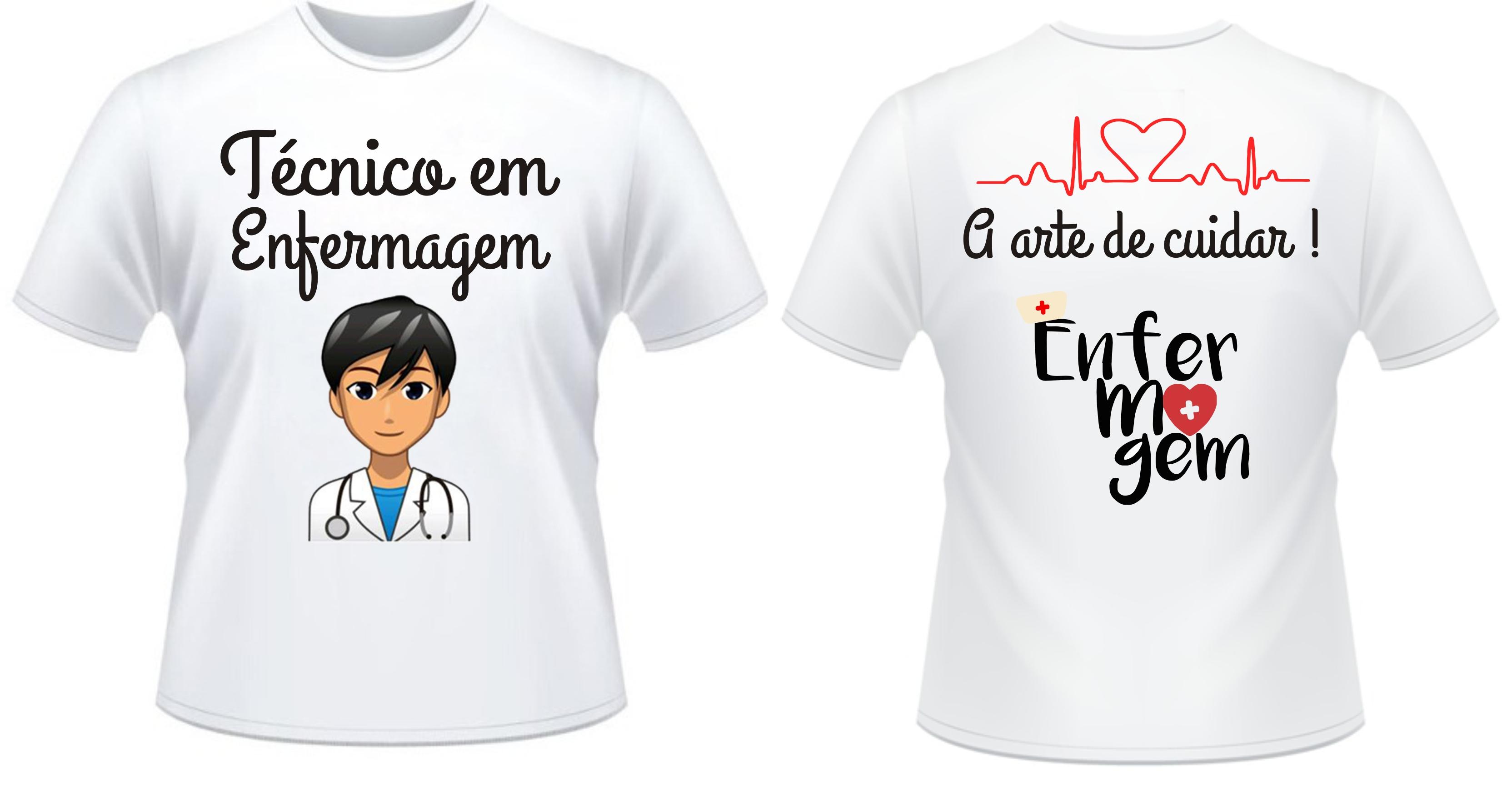 35d66d1dd Camiseta Técnico Enfermagem no Elo7