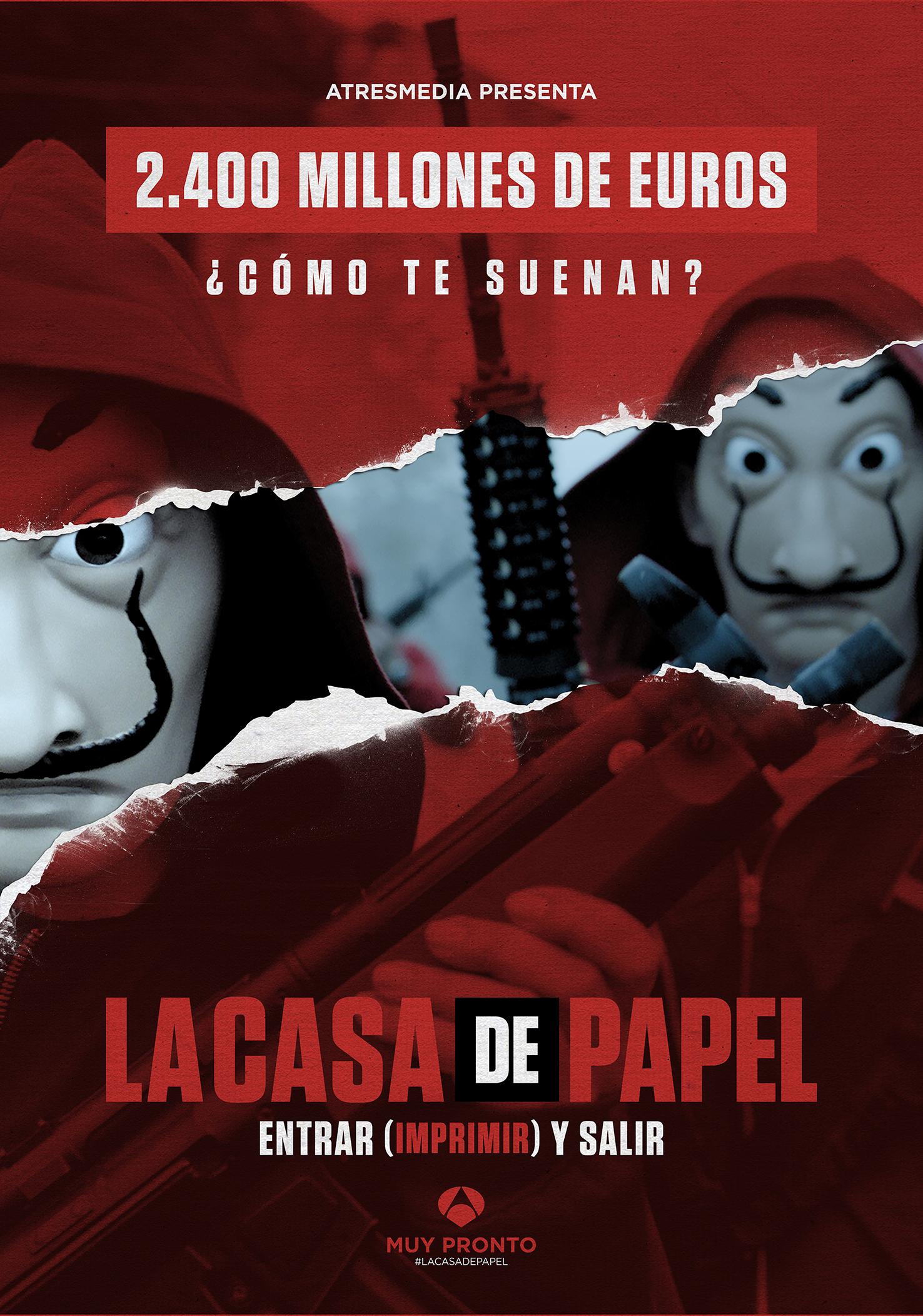 Big Poster da Série La Casa de Papel Tamanho 90x60 cm -LO005 no ...