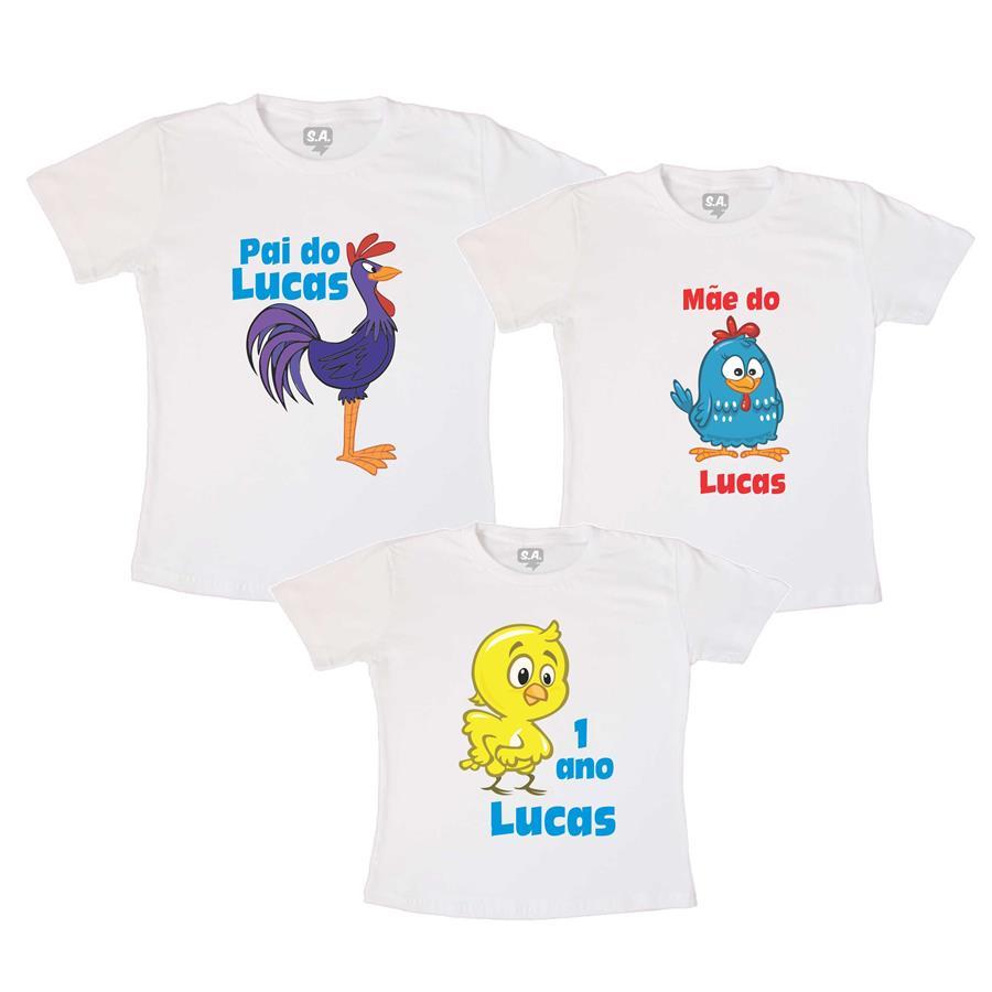 KIT 3 Camisetas de Aniversario Personalizada no Elo7  3be620e3697
