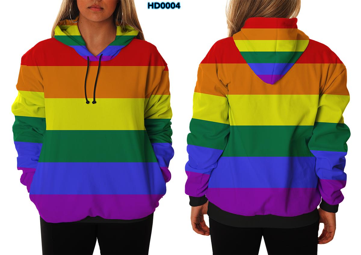 ef3859e46 Blusa de Frio Moletom Arco Iris Rainbow Lgbt