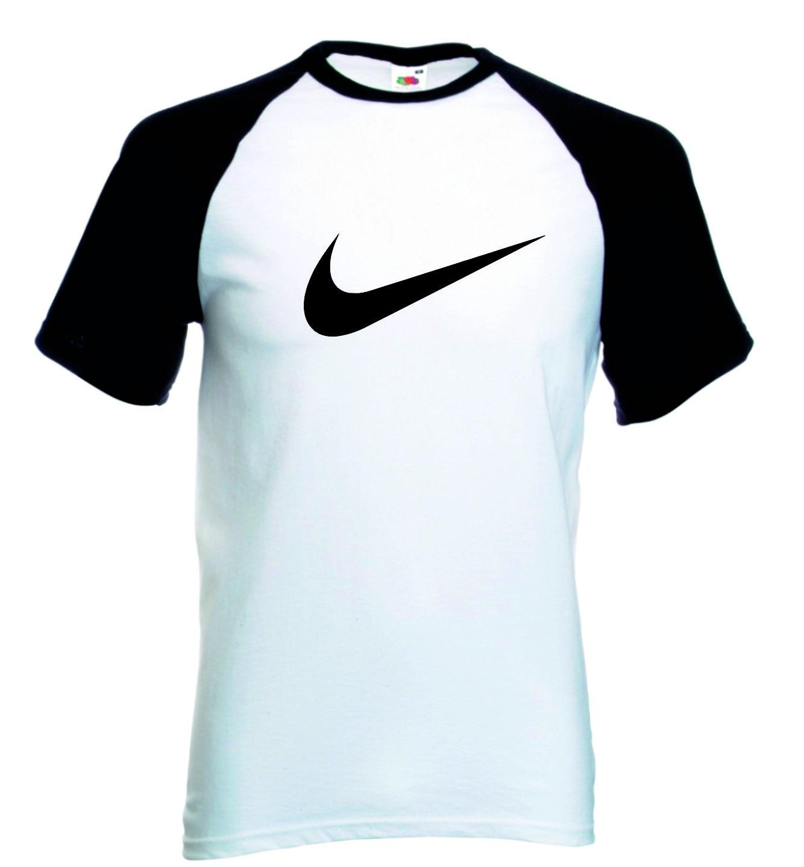 ad33315a5b657 Camiseta Raglan Manga Curta Nike no Elo7