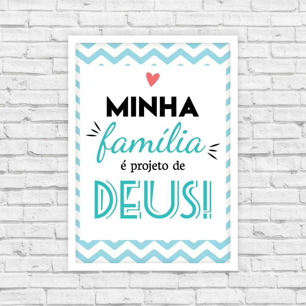 Quadro Minha Família Projeto De Deus 21x30cm No Elo7 Idée Decor