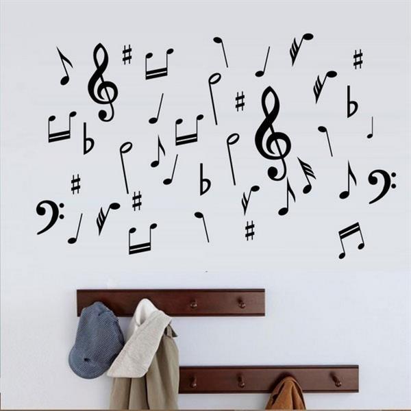 Adesivo De Parede Notas Musicais Mod 1 M 60x60cm No Elo7 Fran