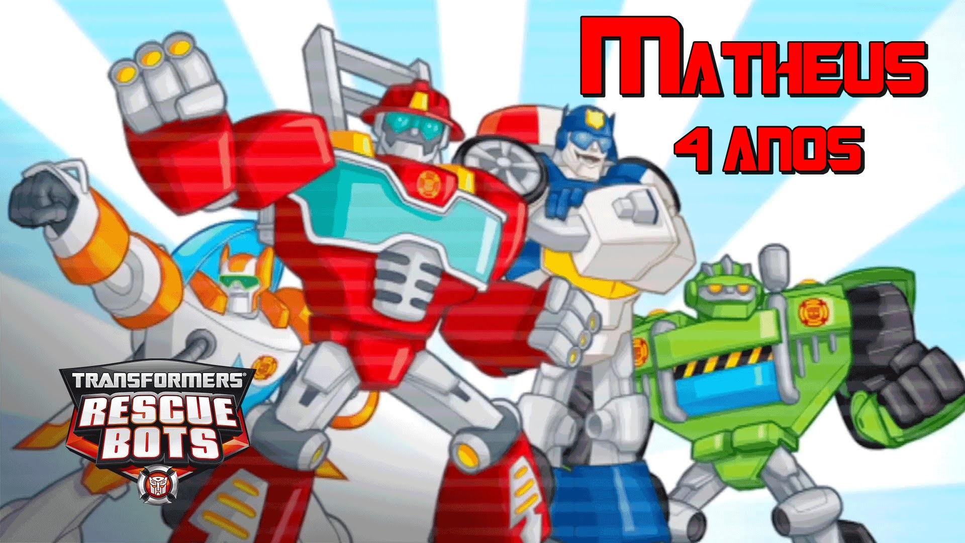 Papel De Arroz Transformers Rescue Bots