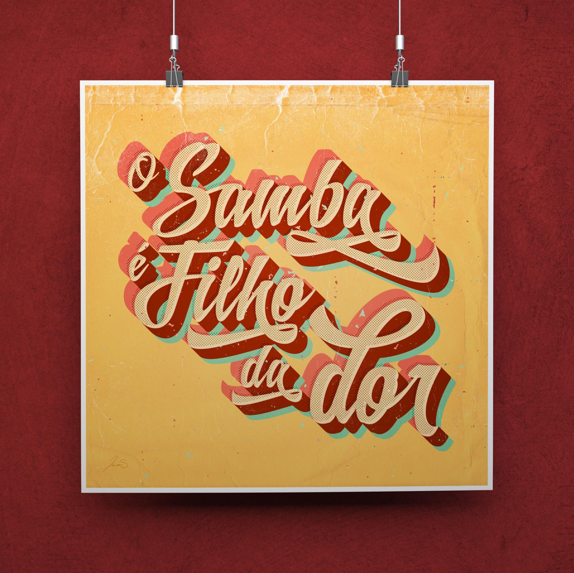 d154a2e379 Pôster Desde que o Samba é Samba no Elo7