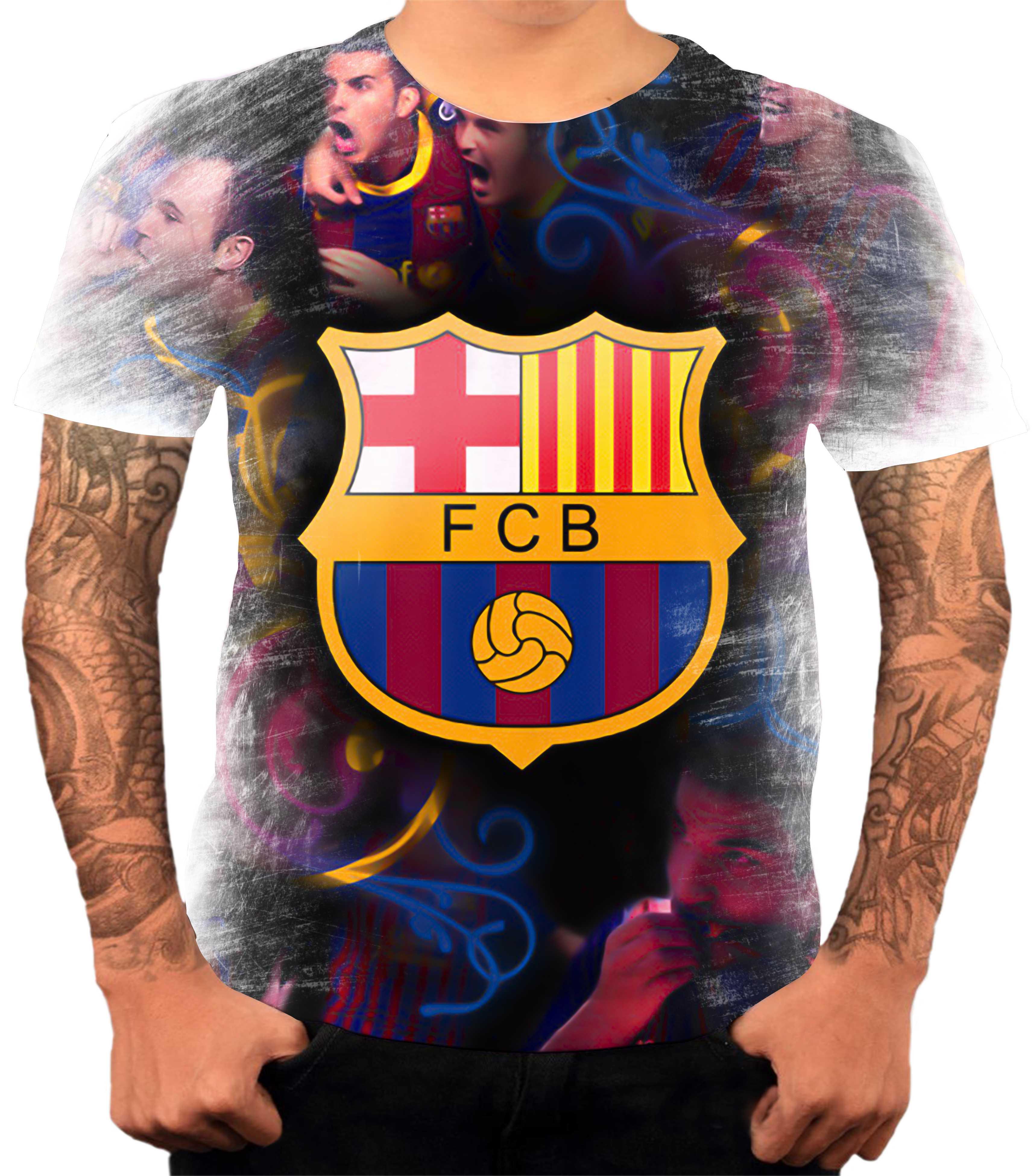 Camiseta Futebol Barcelona 11  9d8edbcbd82cf