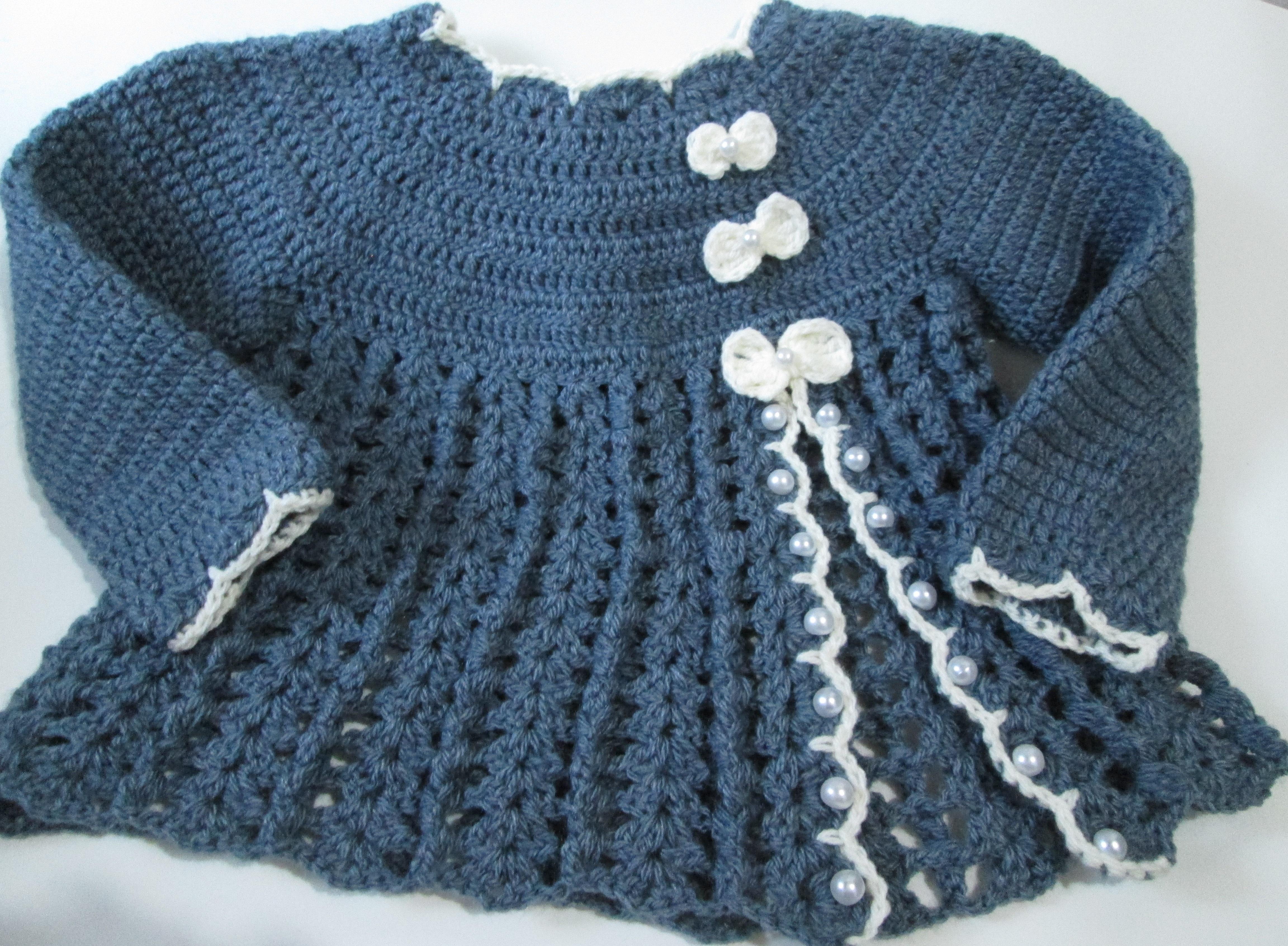 Casaco de Croche para Bebe com Grafico  adee00451ed