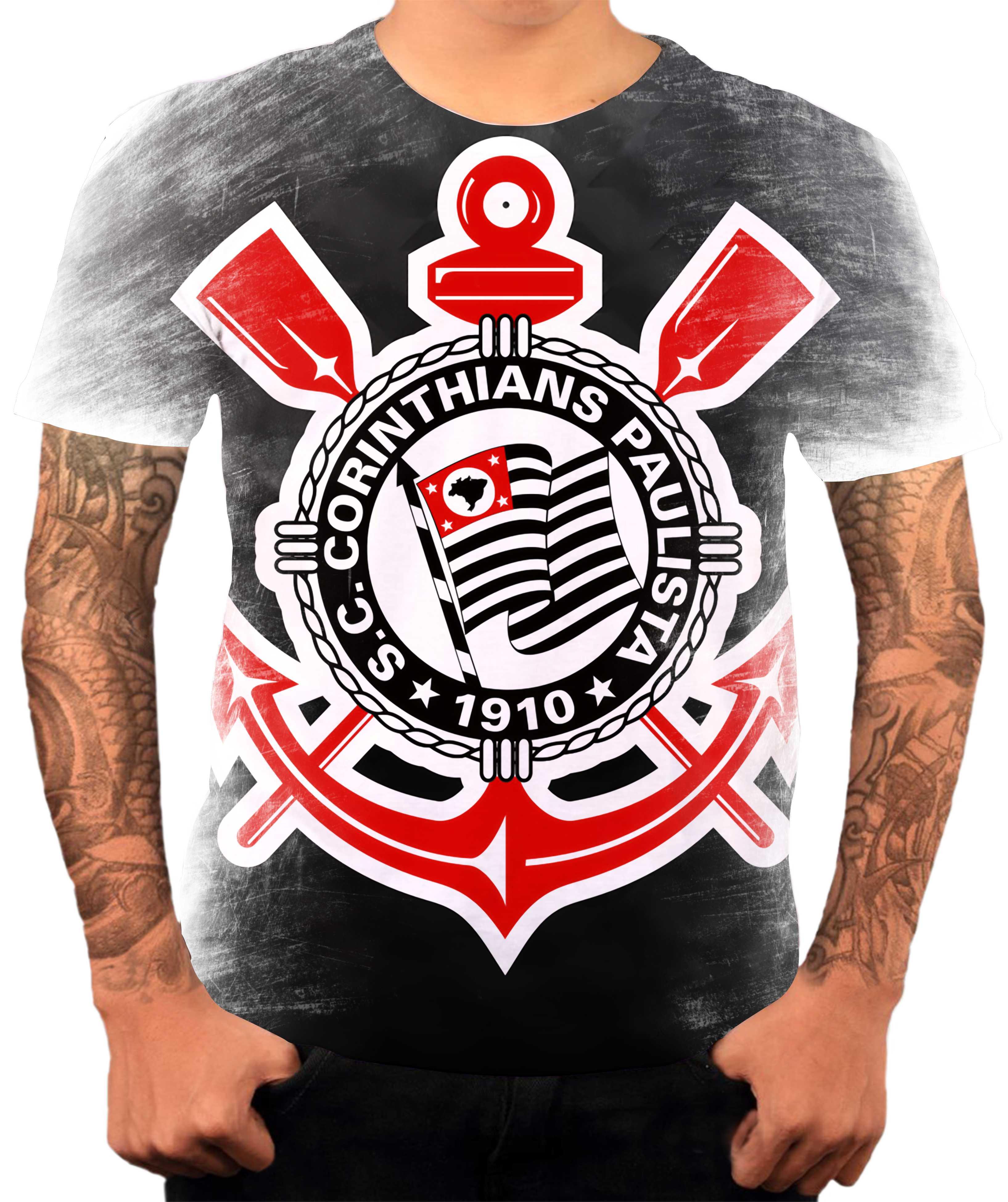 655daecd76 Camisa Camiseta Personalizada Time de Futebol Corinthians 2