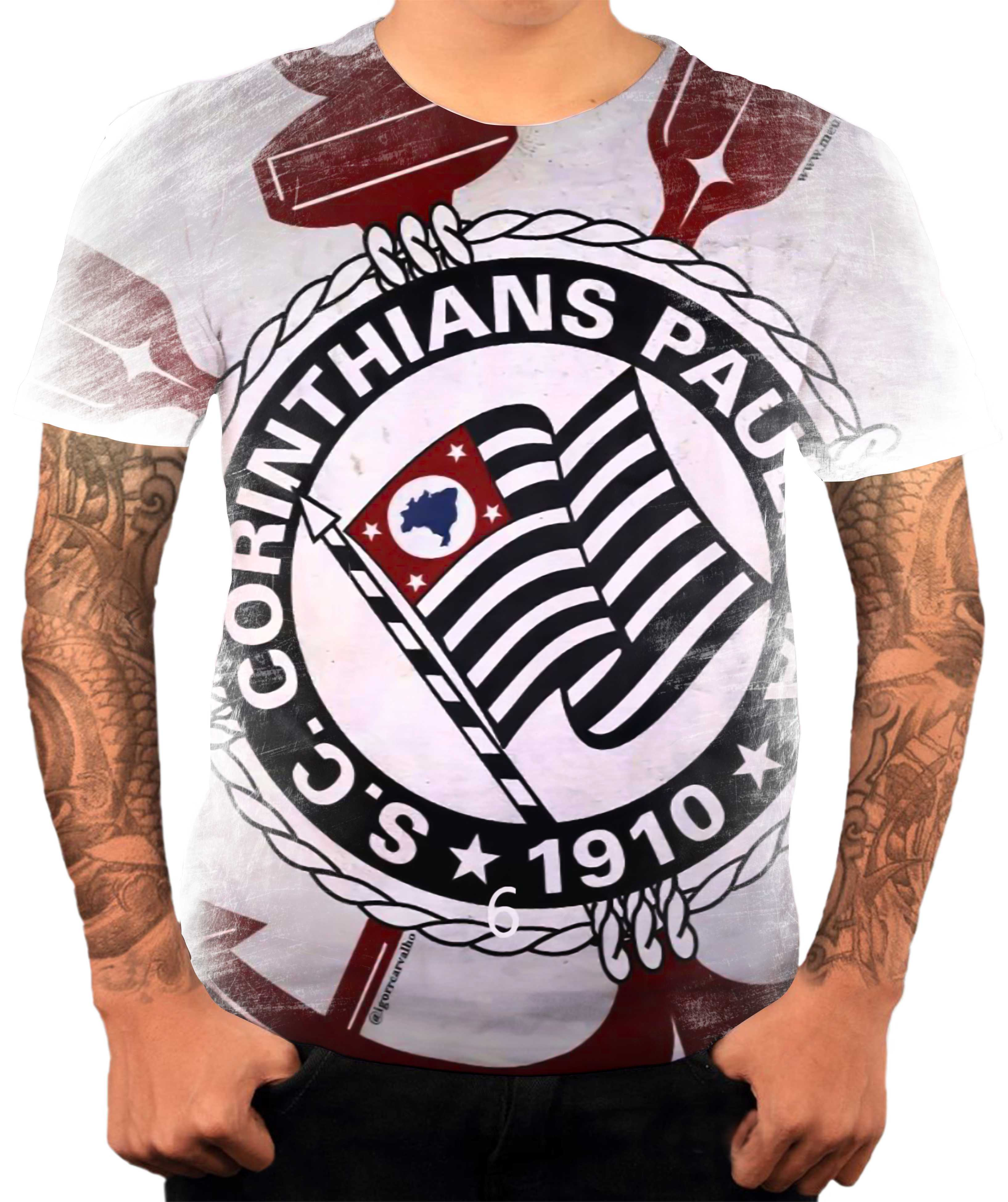 4449488bcf Corinthians Almofada de Camiseta