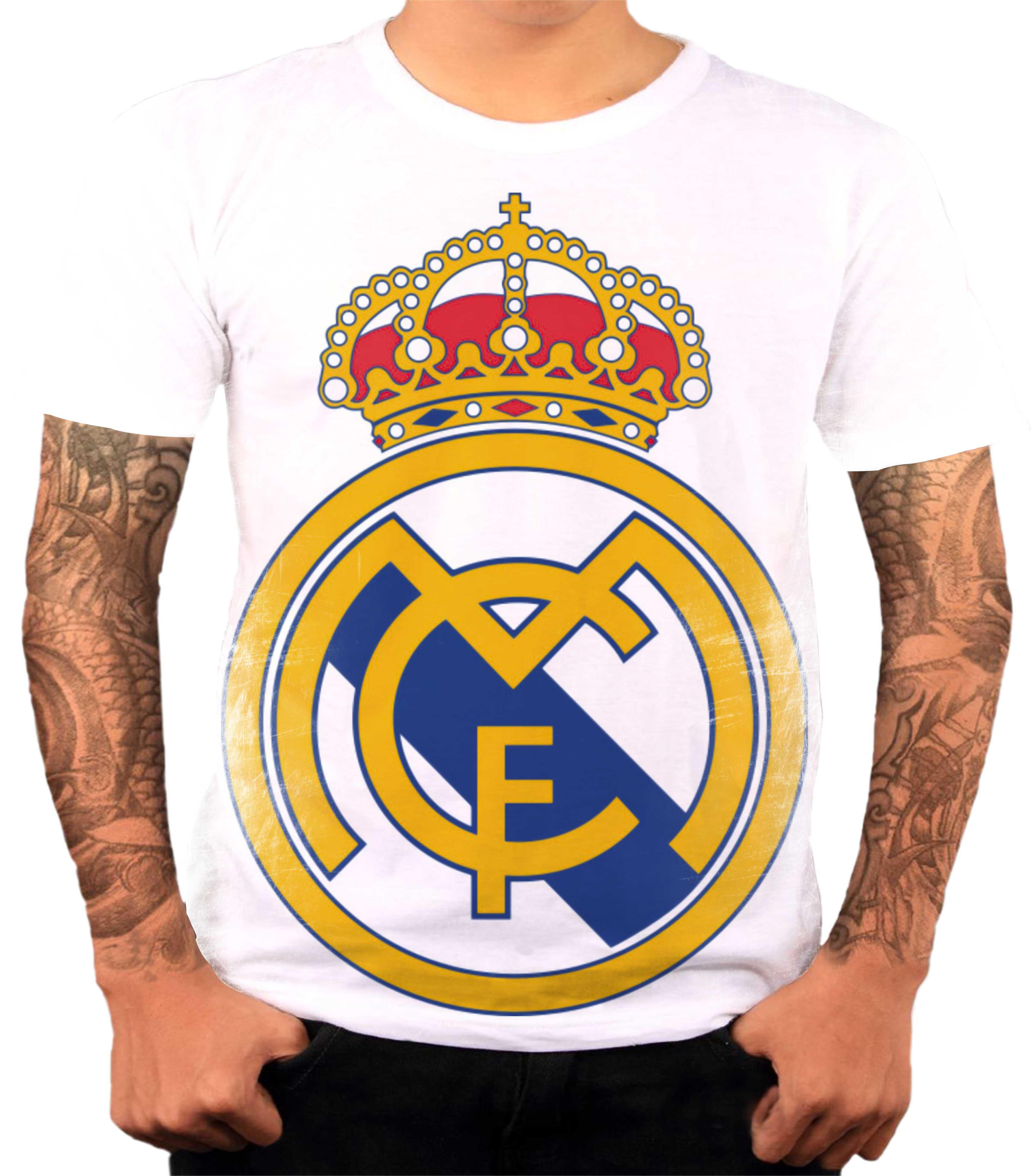 2e55d9f306 Camisa Camiseta Personalizada Time de Futebol Real Madrid 3
