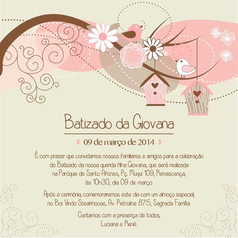 Convites para ch de beb e batizado no elo7 gis confections bd133f altavistaventures Gallery
