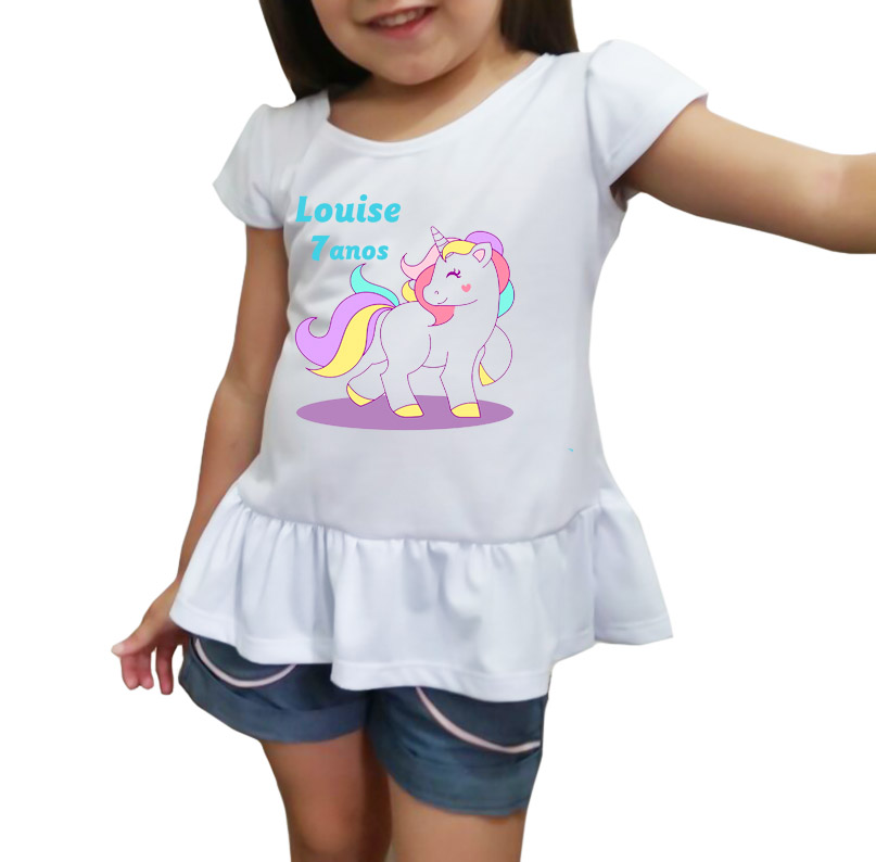 Camiseta Blusinha Unicornio  15720b4f146ee