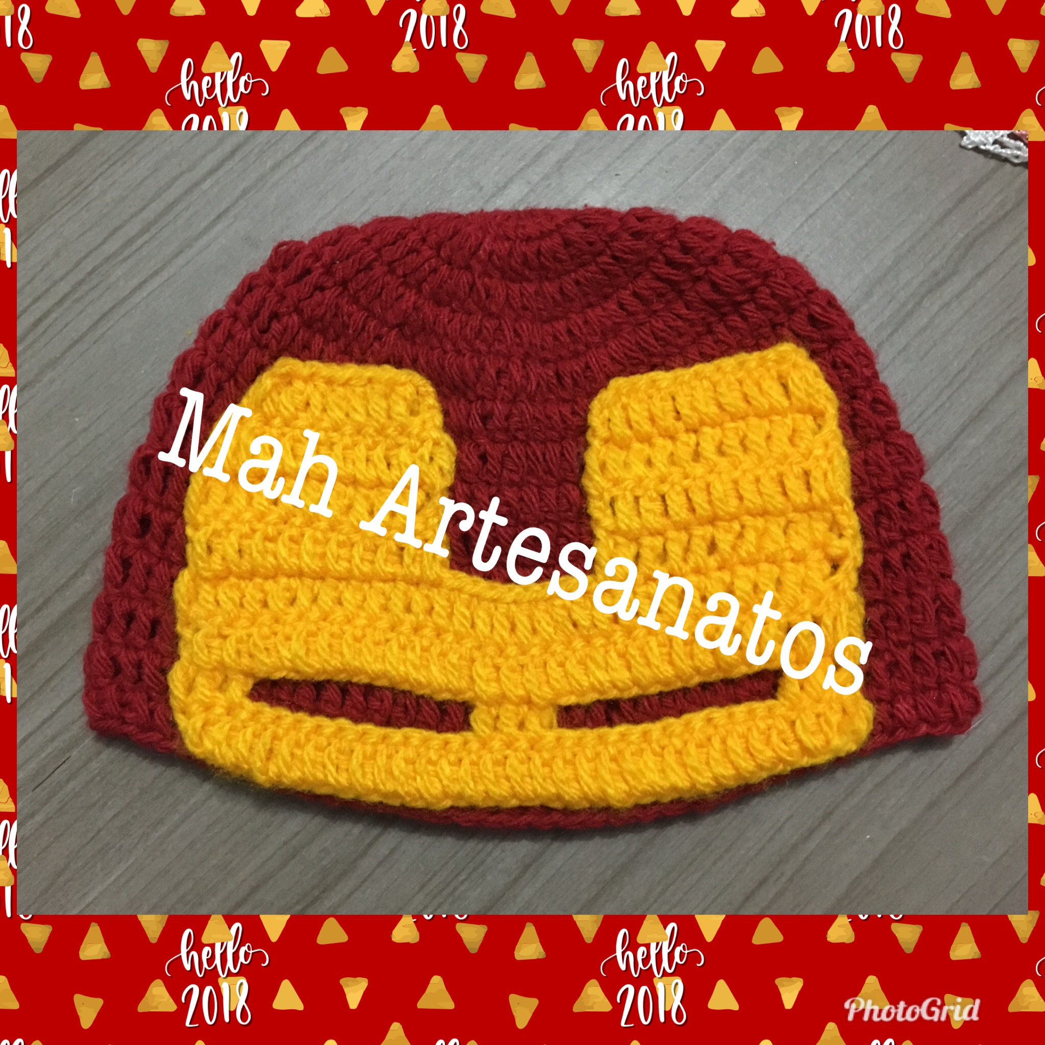 Touca de Croche Homem de Ferro  58a10c1ff68