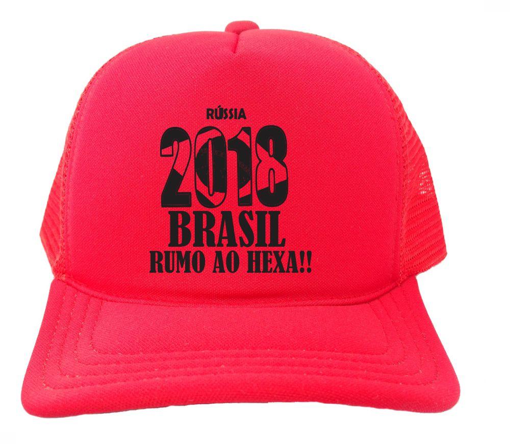 6e38fd270b Boné Trucker Todo Rosa Russia 2018 Brasil Copa Bn241