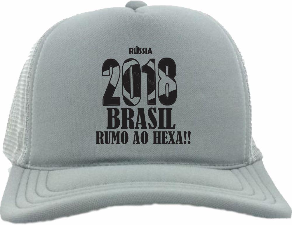 2ac3485a4a Bone Trucker Todo Rosa Russia 2018 Brasil Copa Bn241