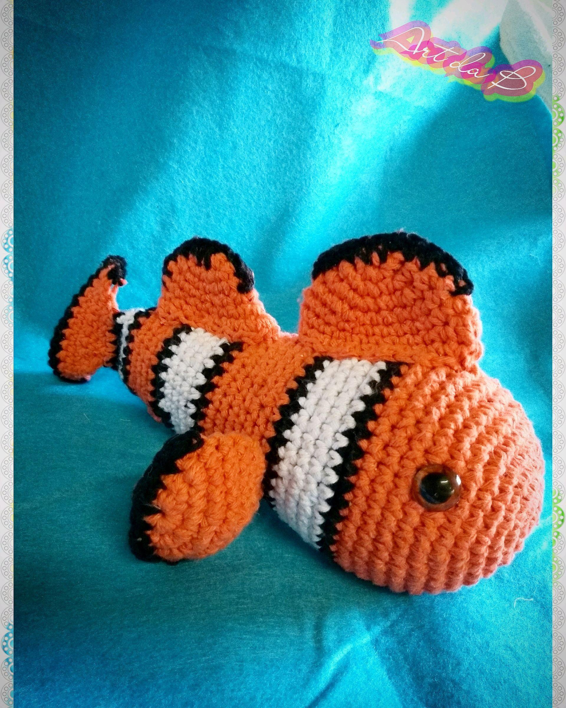 Clownsfisch Nemo - Häkelanleitung | Tiere häkeln anleitung ... | 2399x1920