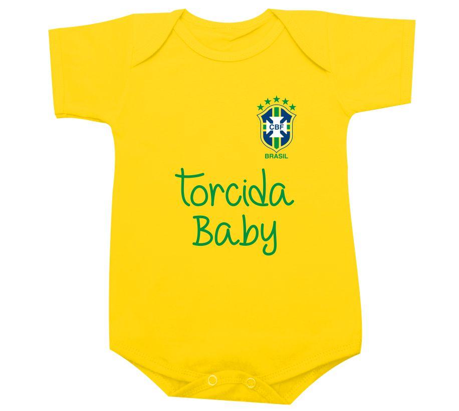 a7e2adc8e7 Seleção Brasileira Torcida Baby - Body ou camiseta infantil no Elo7 ...