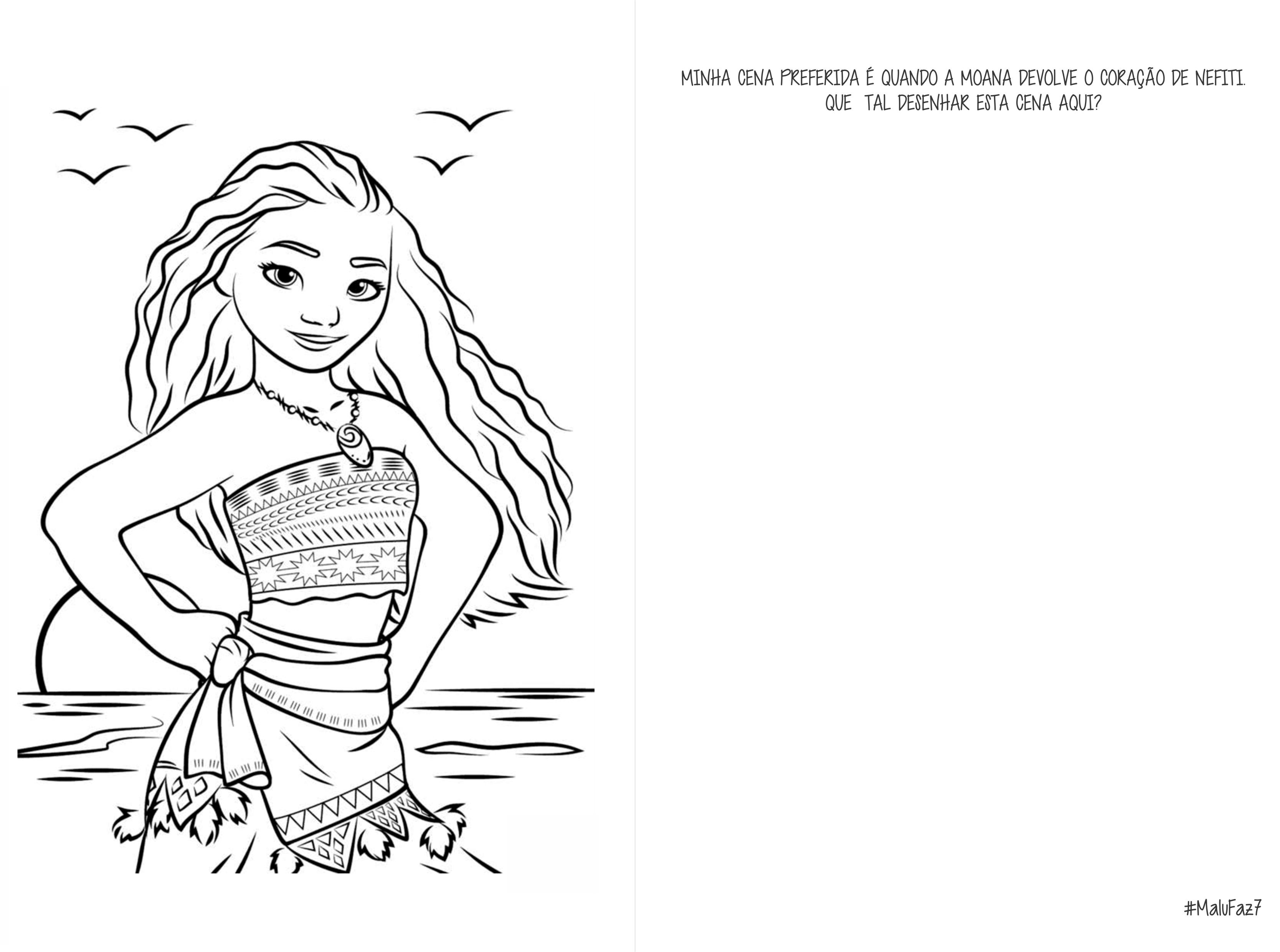 Desenho Para Colorir Do Filme Moana Moana Vaiana Em