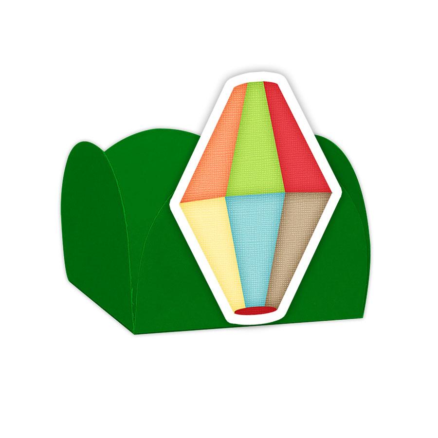 08992e7a23a2f Forminha Doces Balão Festa Junina Verde - 24 unidades no Elo7   Lembrafesta  (BE1504)