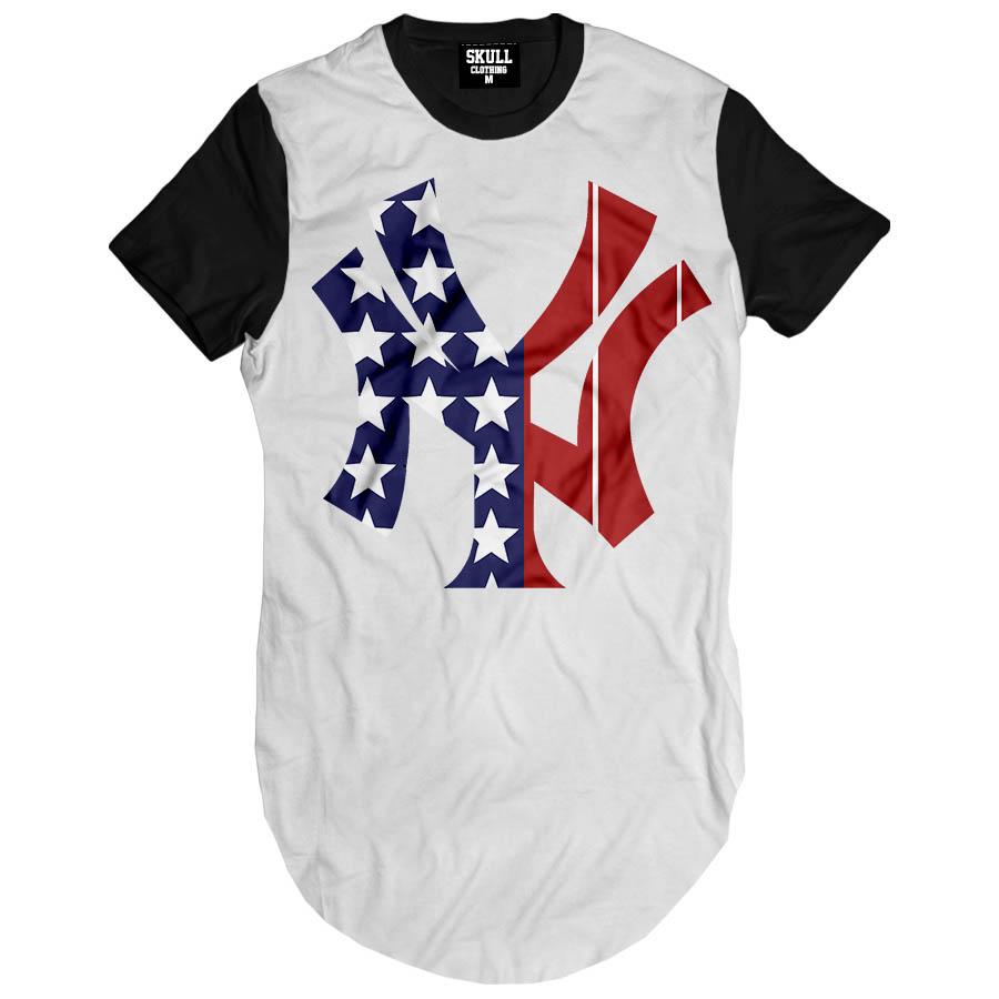 Camiseta Longa New York Ny Eua Hip Hop camisa masculina Swag no Elo7 ... 0934599868e