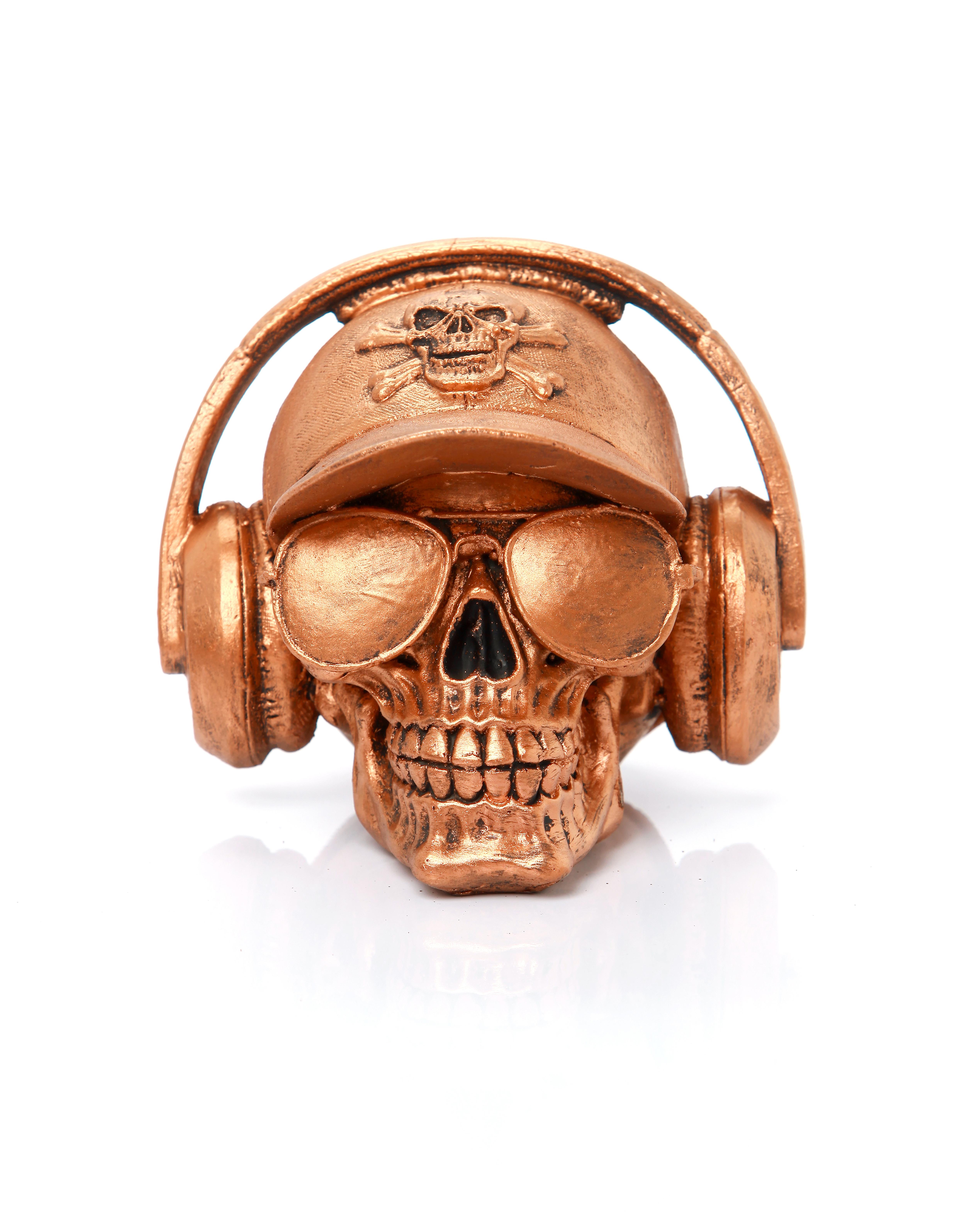 Cranio Caveira com Bone e Fone   Elo7 de7f462bd1