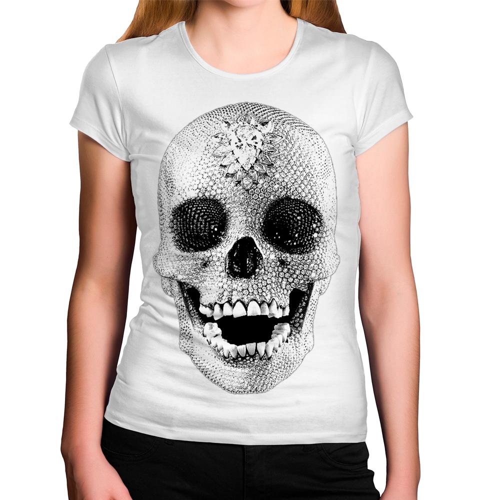 Camiseta Feminina Caveira Brilhante Tumblr No Elo7 Criatics Bea46f
