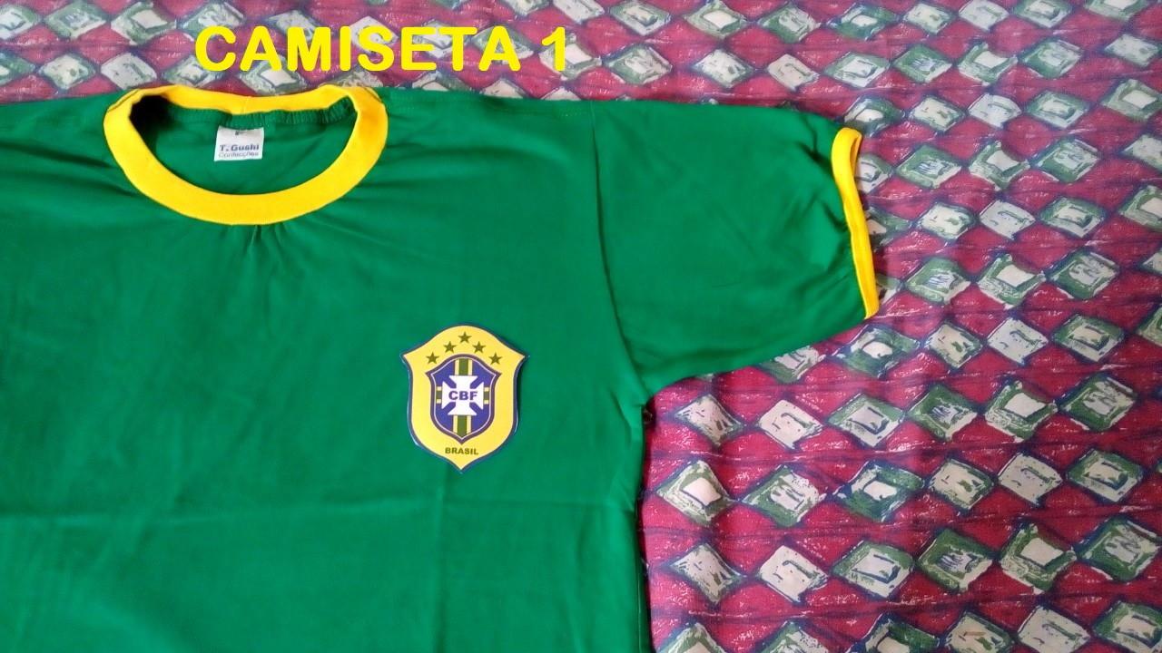 Camiseta Brasil Amarela com Paete  bced5baf72609