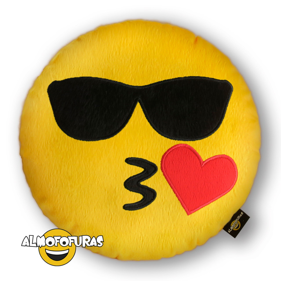 Almofada Emoji Whatsapp Oculos de Sol   Elo7 f4e83a55c1