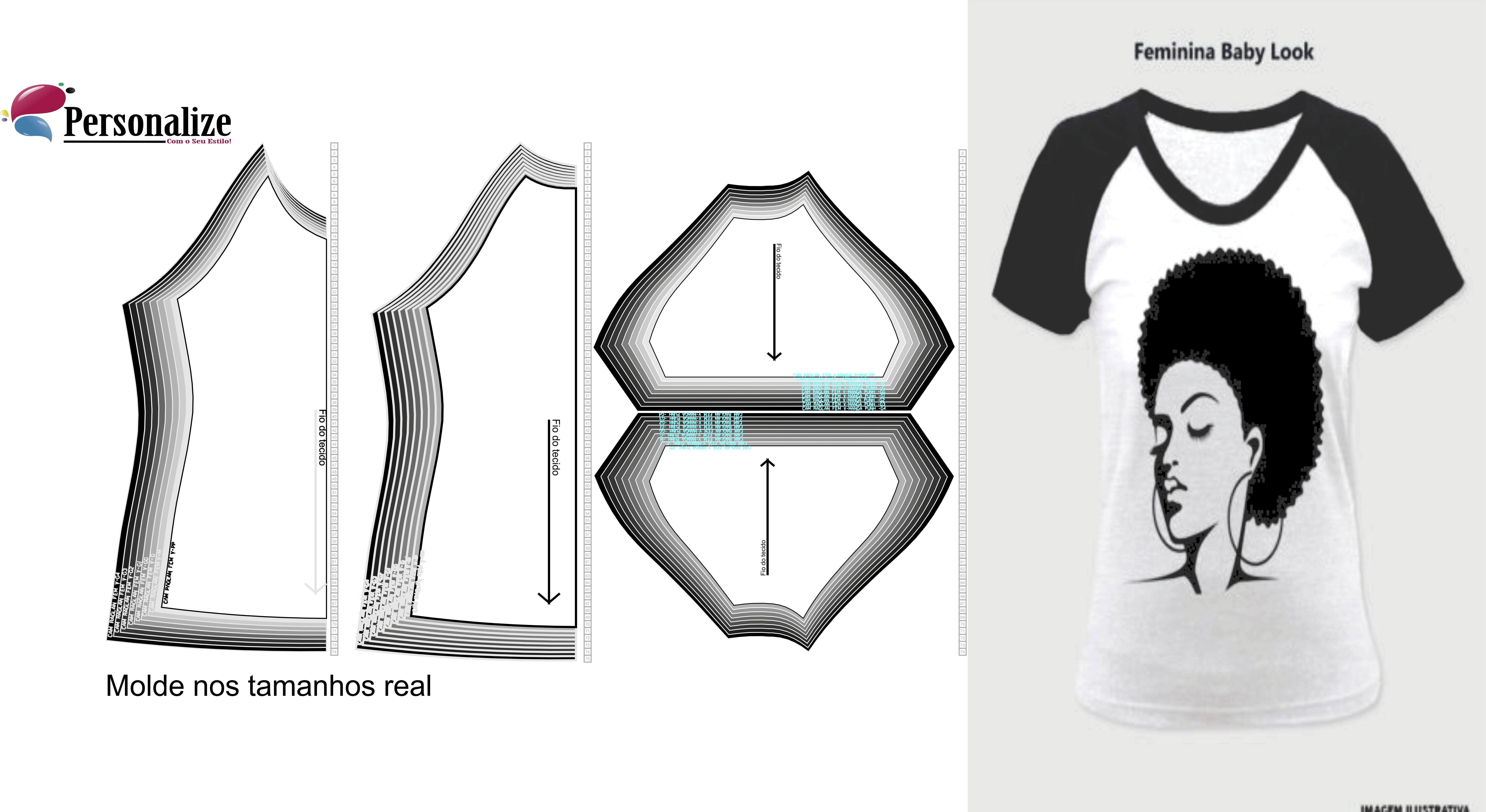 Moldes Para Imprimir Camisa Elo7