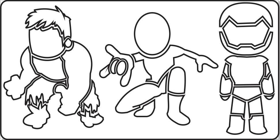 Regua Vazada Para Desenhos Colorir Super Herois No Elo7 Shopmaq