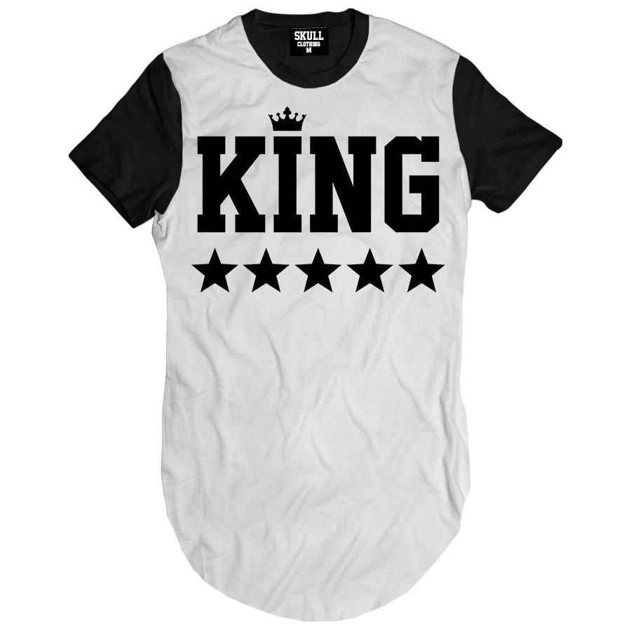 b4f58d1c3b Camiseta alongada King masculina longline rap swag no Elo7
