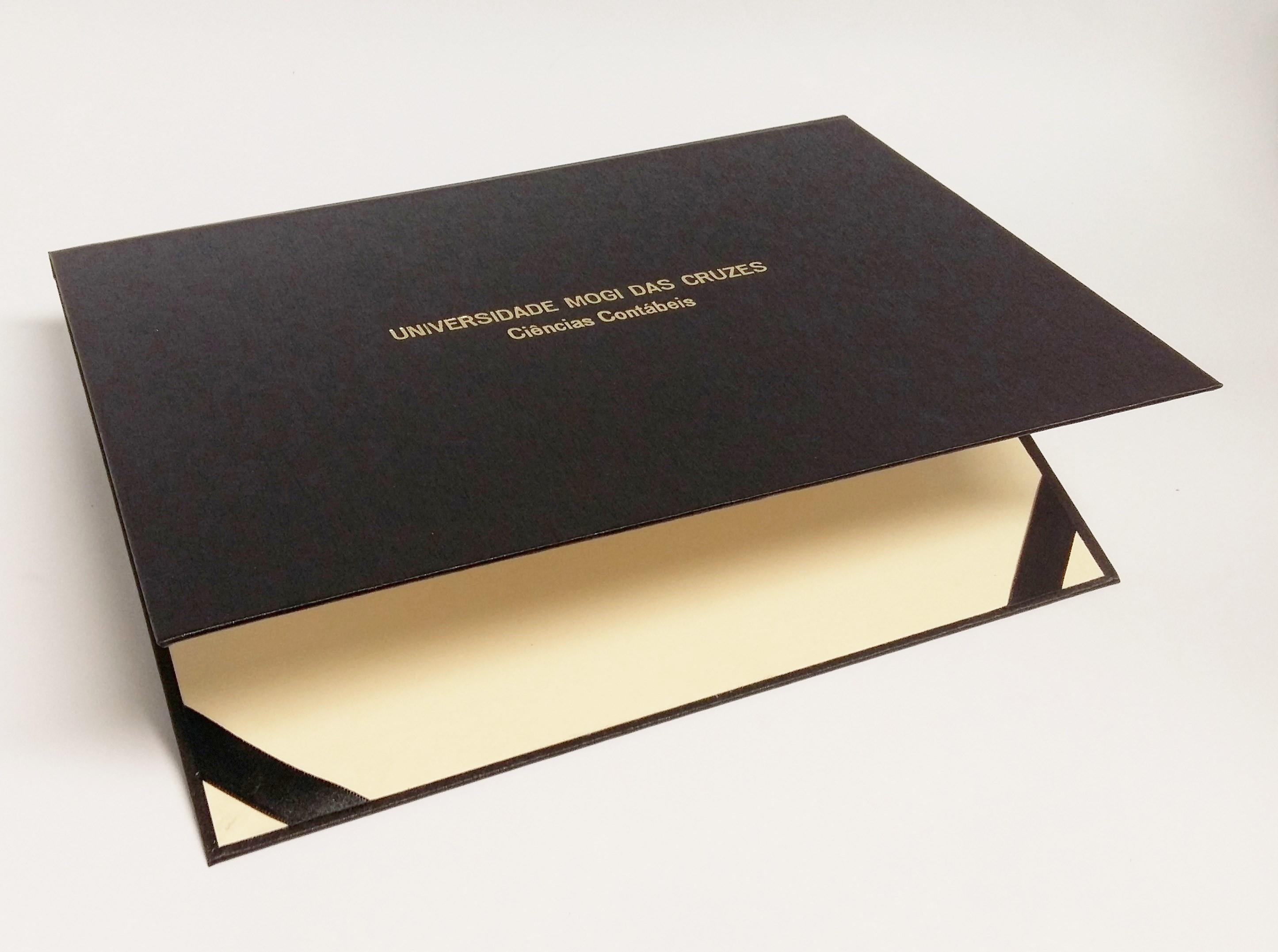 f8bb24248e1 Porta diploma /certificado A4 Personalizado- Diversas cores