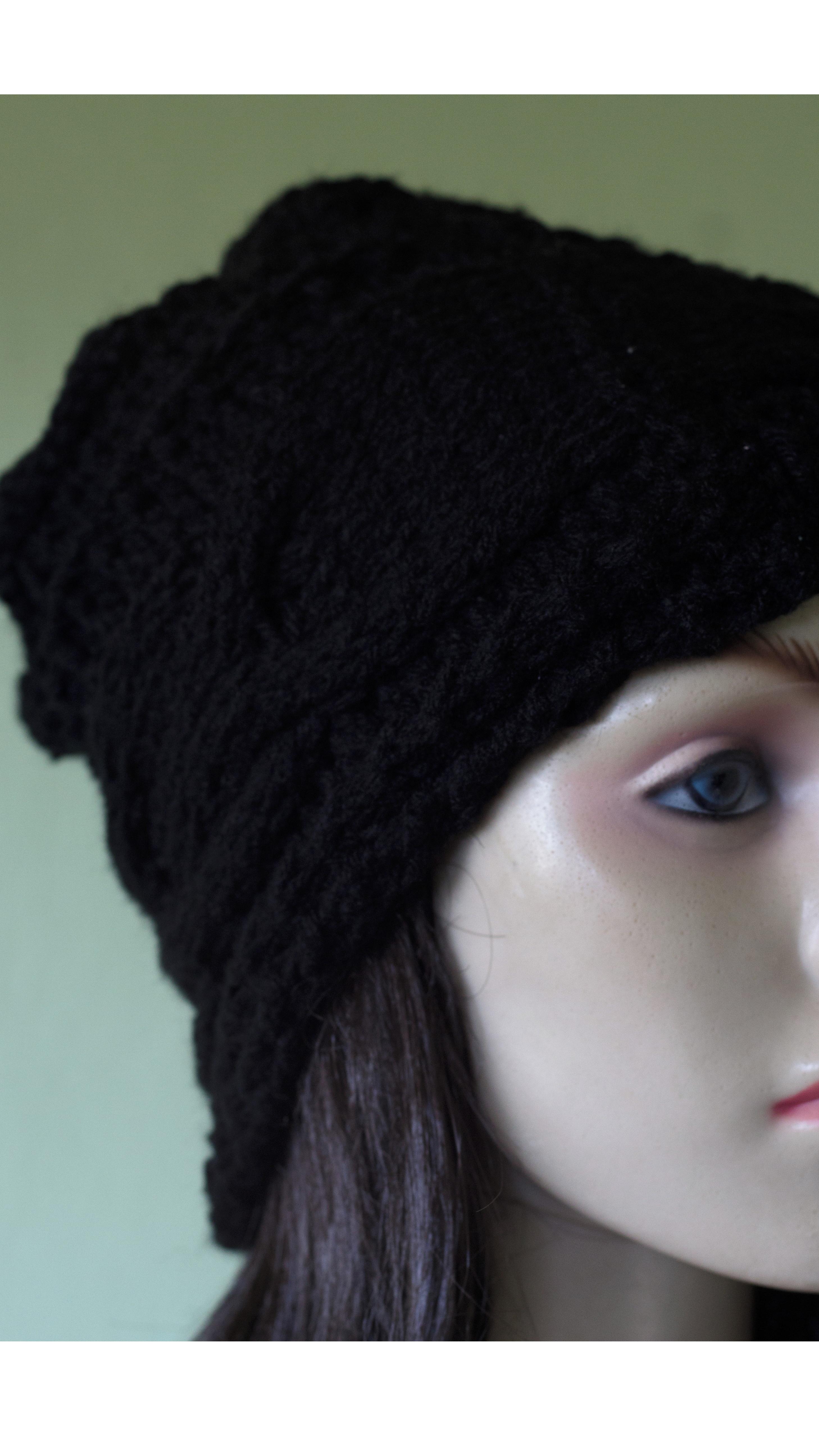 Touca de tricô com lã super macia e pontos criativos no Elo7 ... e09c667c4fe