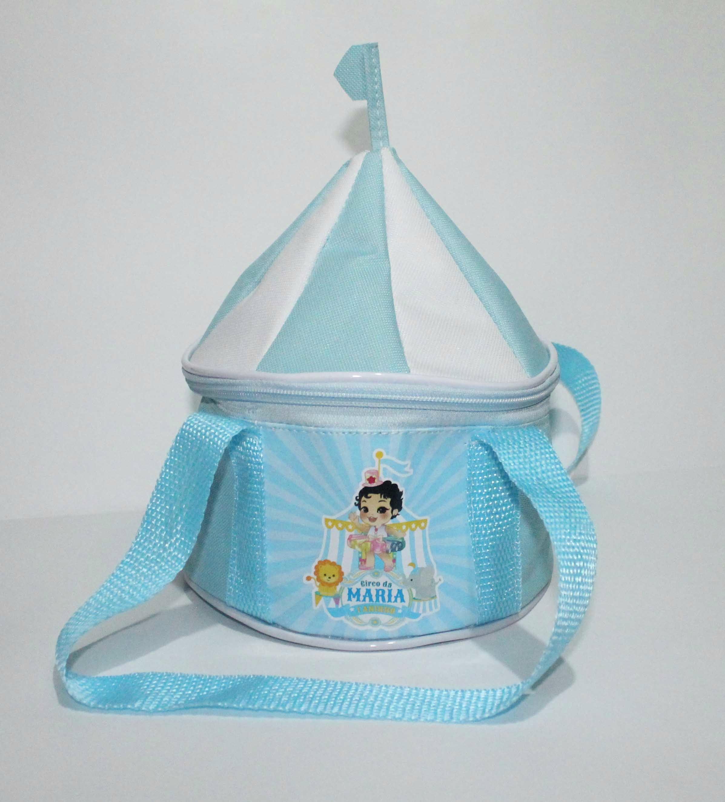 226dff140d Necessaire Tenda de Circo Azul Bebe e Branco | Elo7