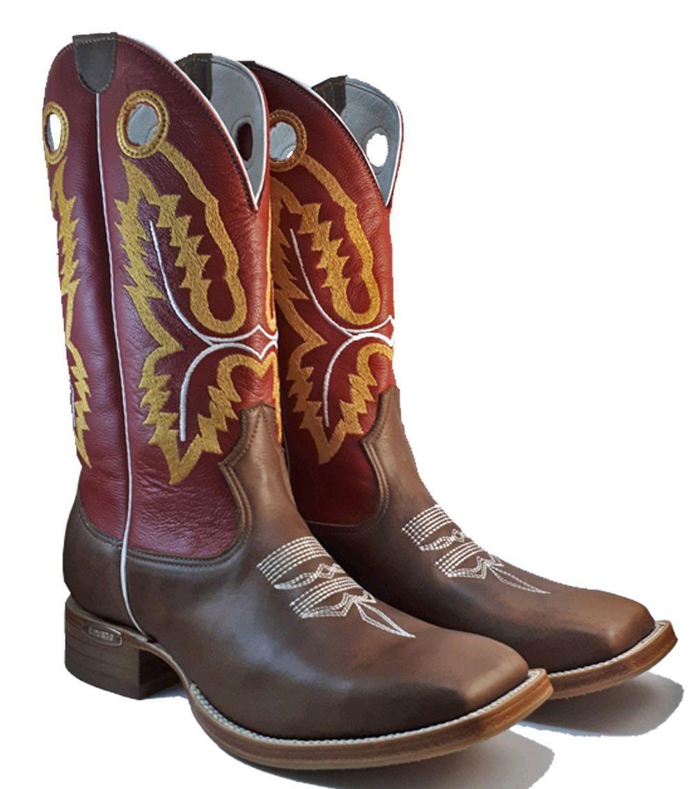d24af661dc Bota texana Masculina Country Bico Quadrado Couro Legítimo C no Elo7 ...