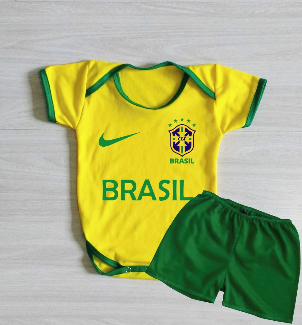b4bec46f58 Conjunto Uniforme Brasil Copa do Mundo 2018