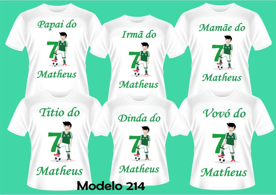 da80cce14f03b Kit Familia Camiseta Futebol Aniversario C 6