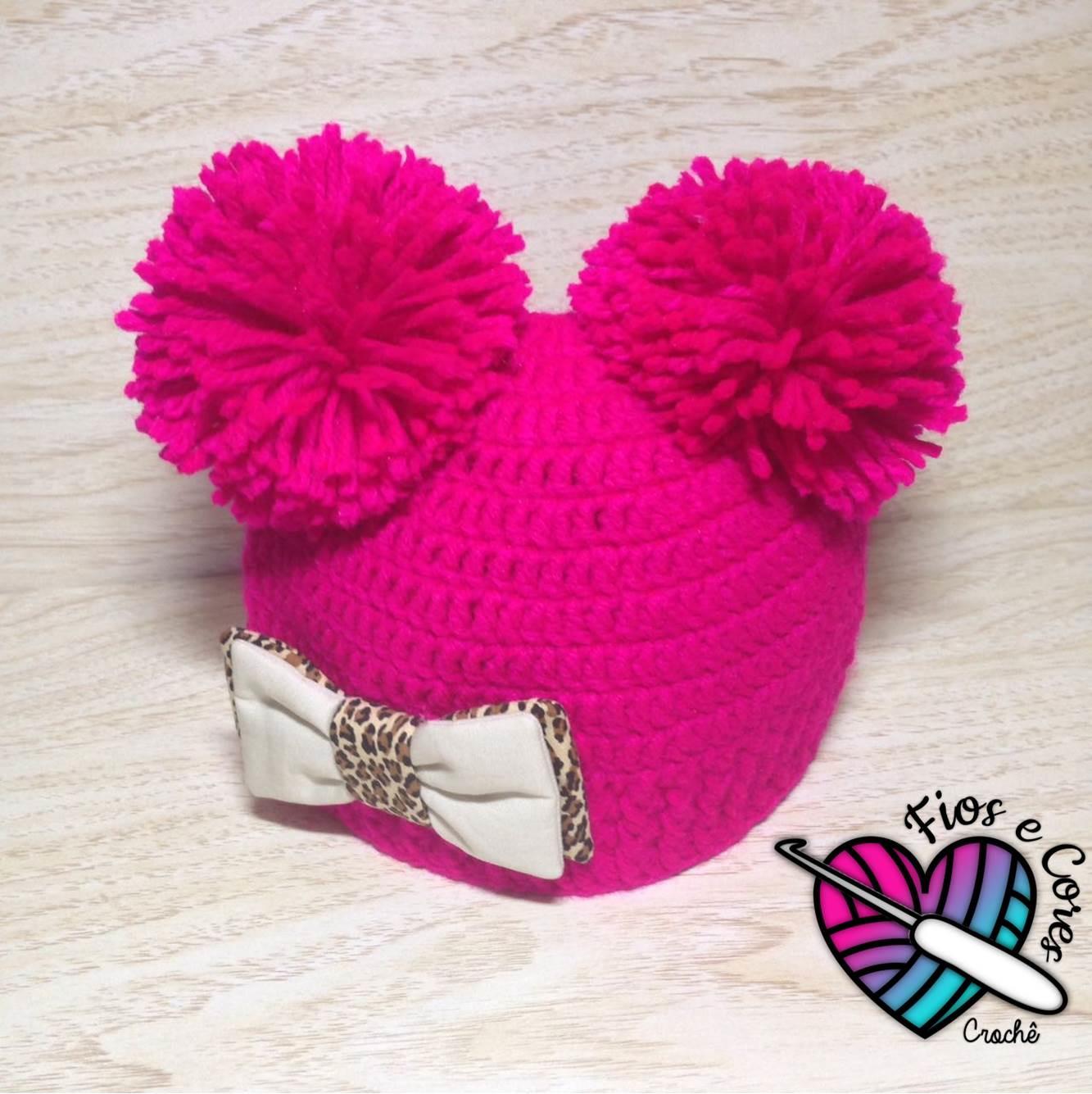 Gorro em Croche Estilo Minnie Mouse  bad08d78193