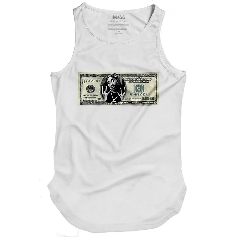 Camiseta Regata Tupac Dollar longa oversized swag longa no Elo7 ... fc542a1ba8d