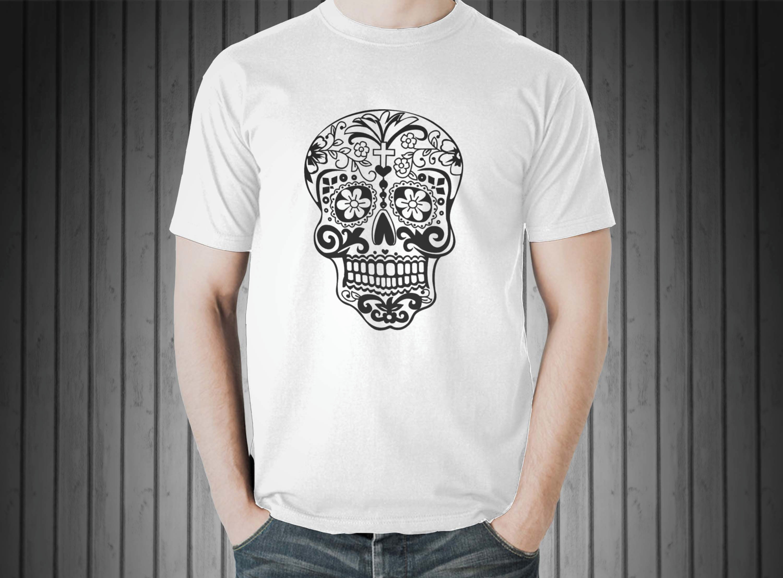 48ce3b5cb546a Camiseta Masculina Volkswagen Caveira Silkscreen