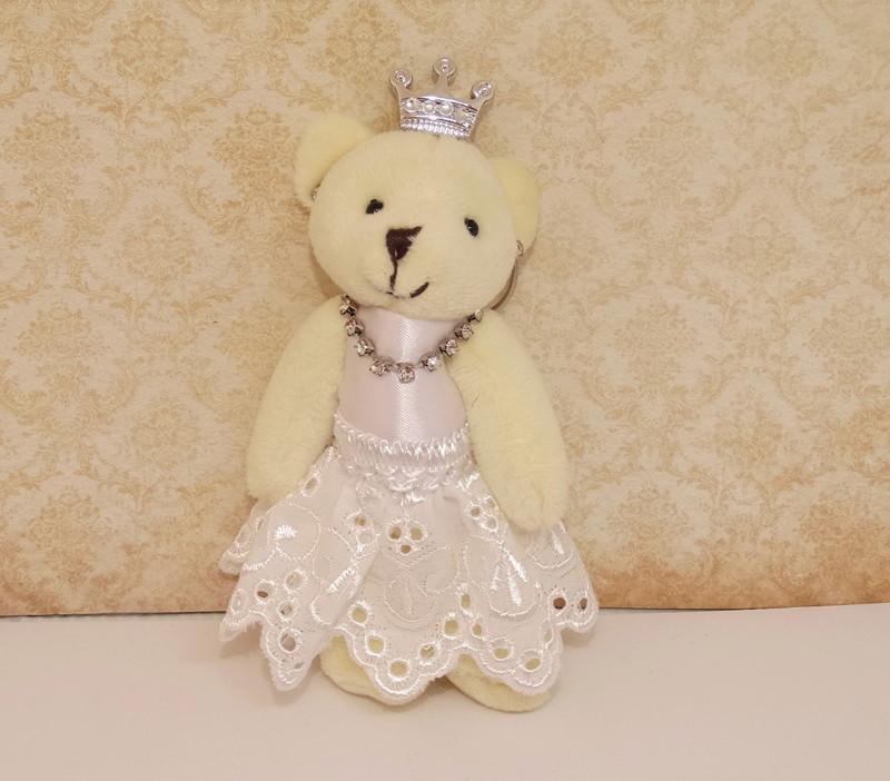 Ursa Princesa De Vestido Branco