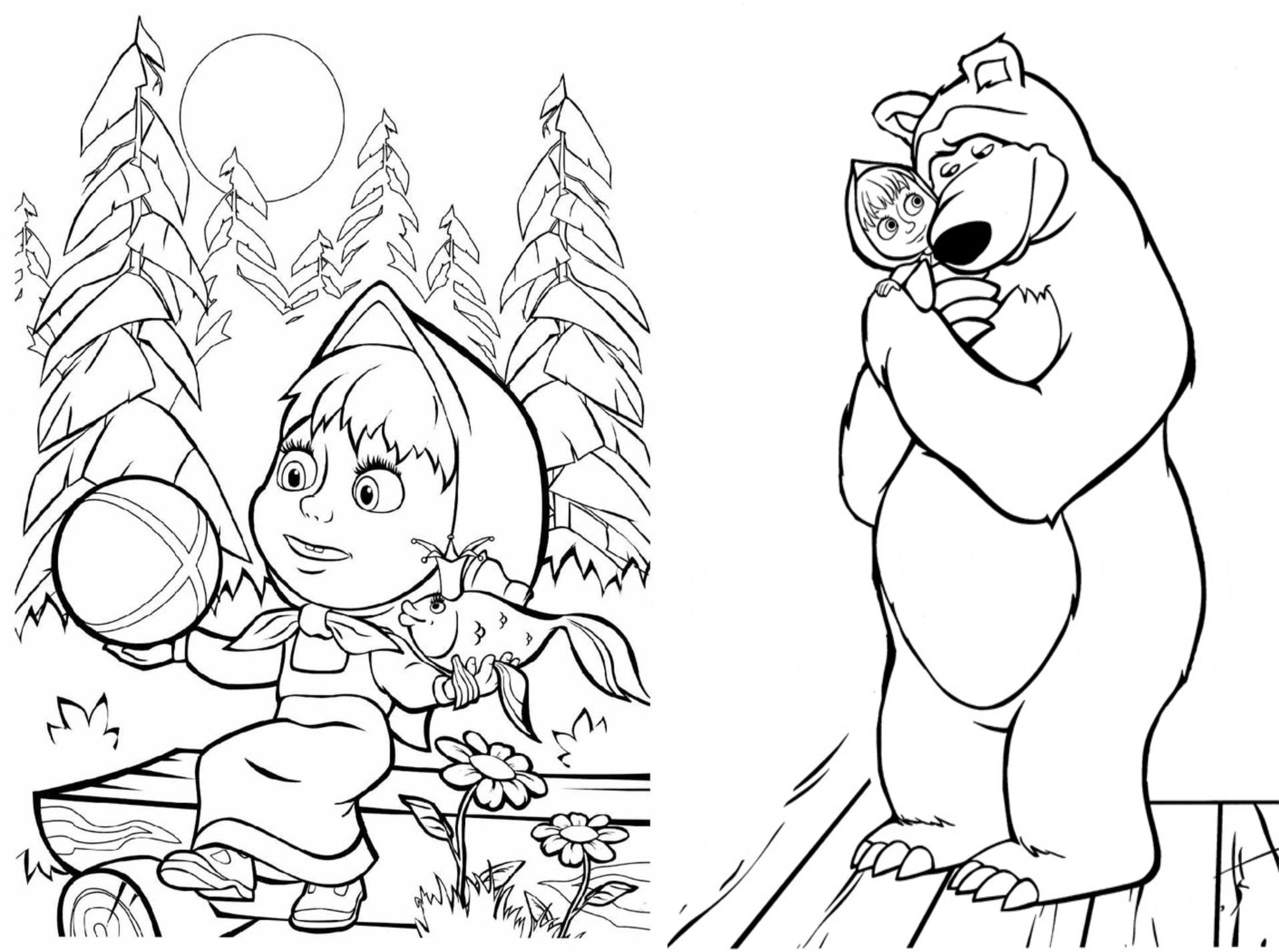 Desenhos Para Colorir Masha E O Urso
