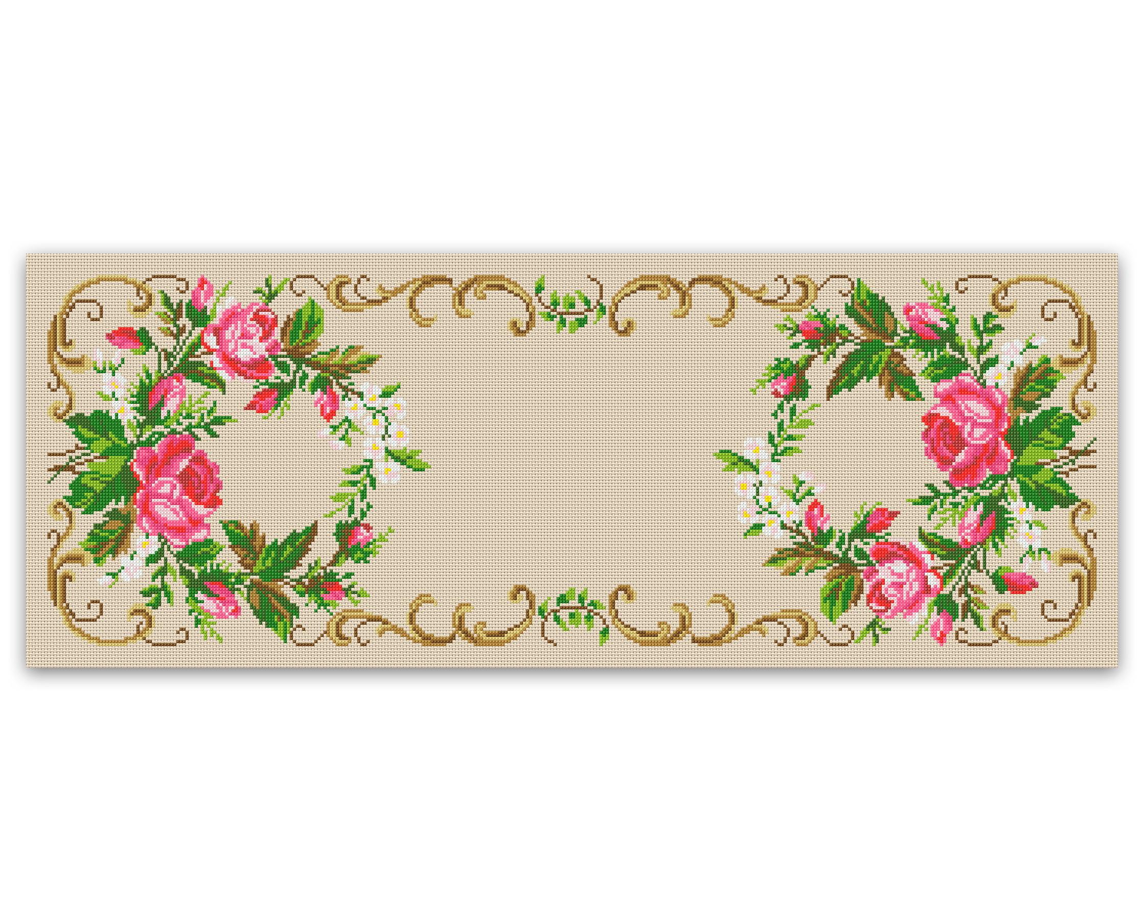 Toalha Com Rosas Gráfico Ponto Cruz No Elo7 Thimage Gráficos De Ponto Cruz 7052c2