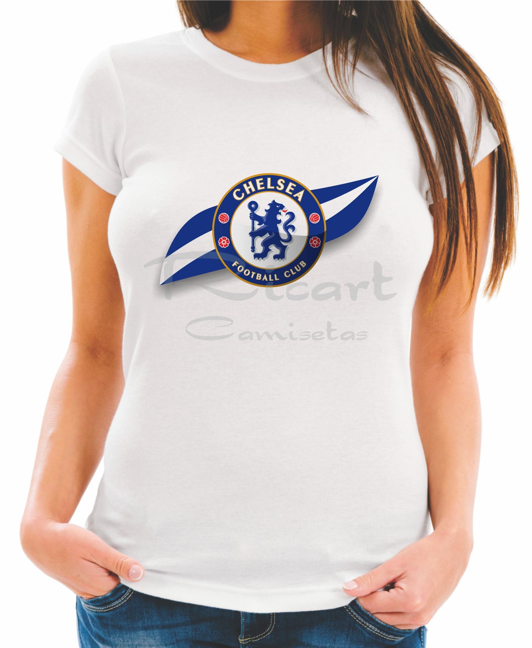 9612985ec5 Camiseta Chelsea Time Futebol Escudo no Elo7