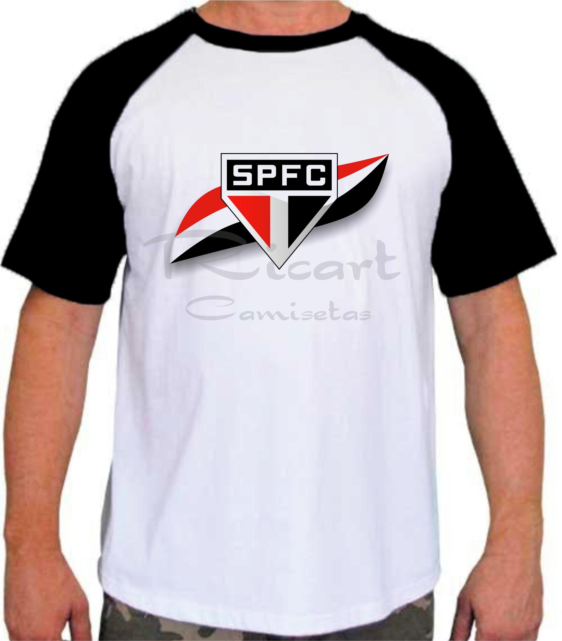 c4ad96b08d Camiseta Time de Futebol Raglan Masculina