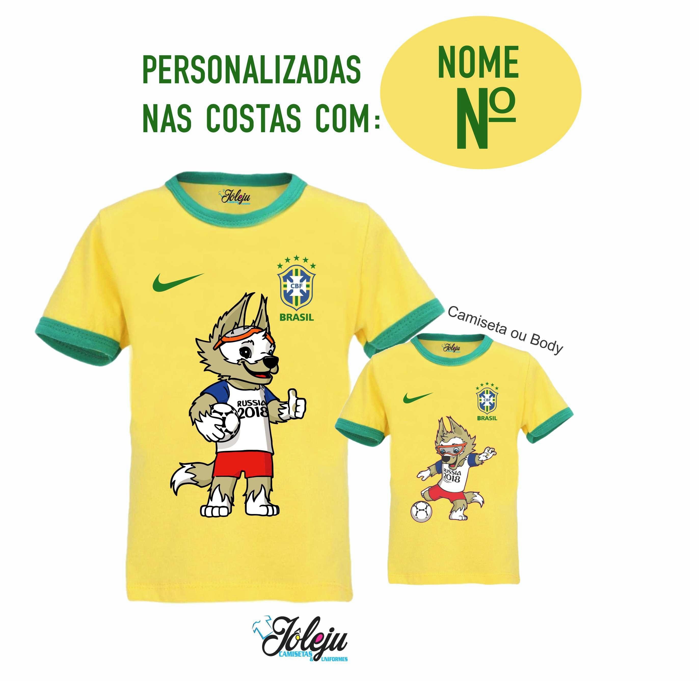 2 Camisetas Brasil Copa do Mundo - FRETE GRÁTIS no Elo7  3cf306c1f91b9