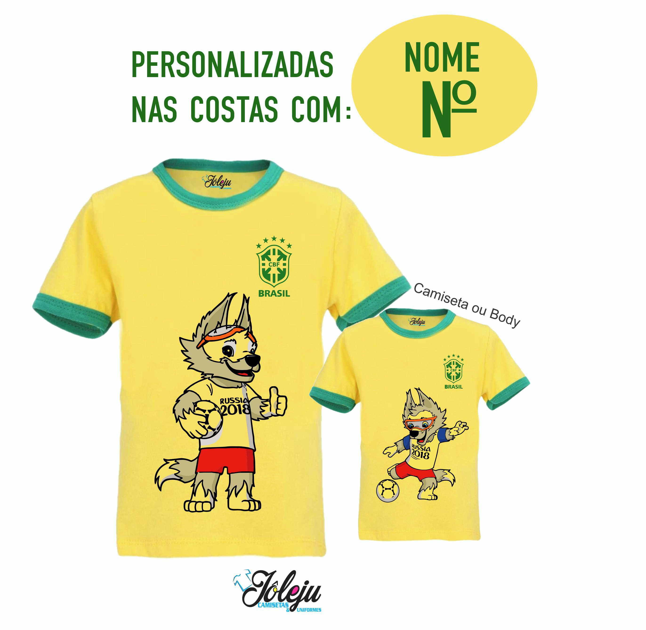 f2a936f289 2 Camisetas Brasil Copa do Mundo Frete Gratis