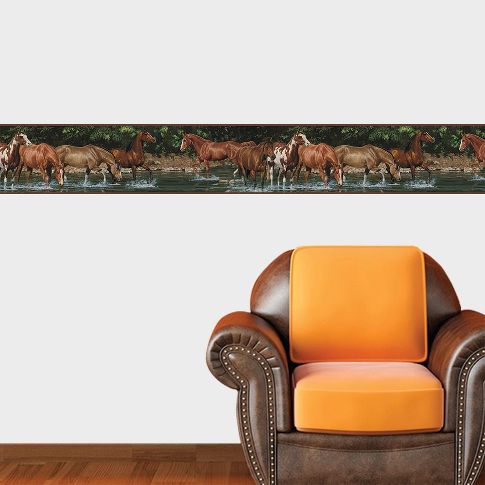 d8ee37ed2 Adesivo de Faixa Decorativa Cavalos- 100x15cm no Elo7