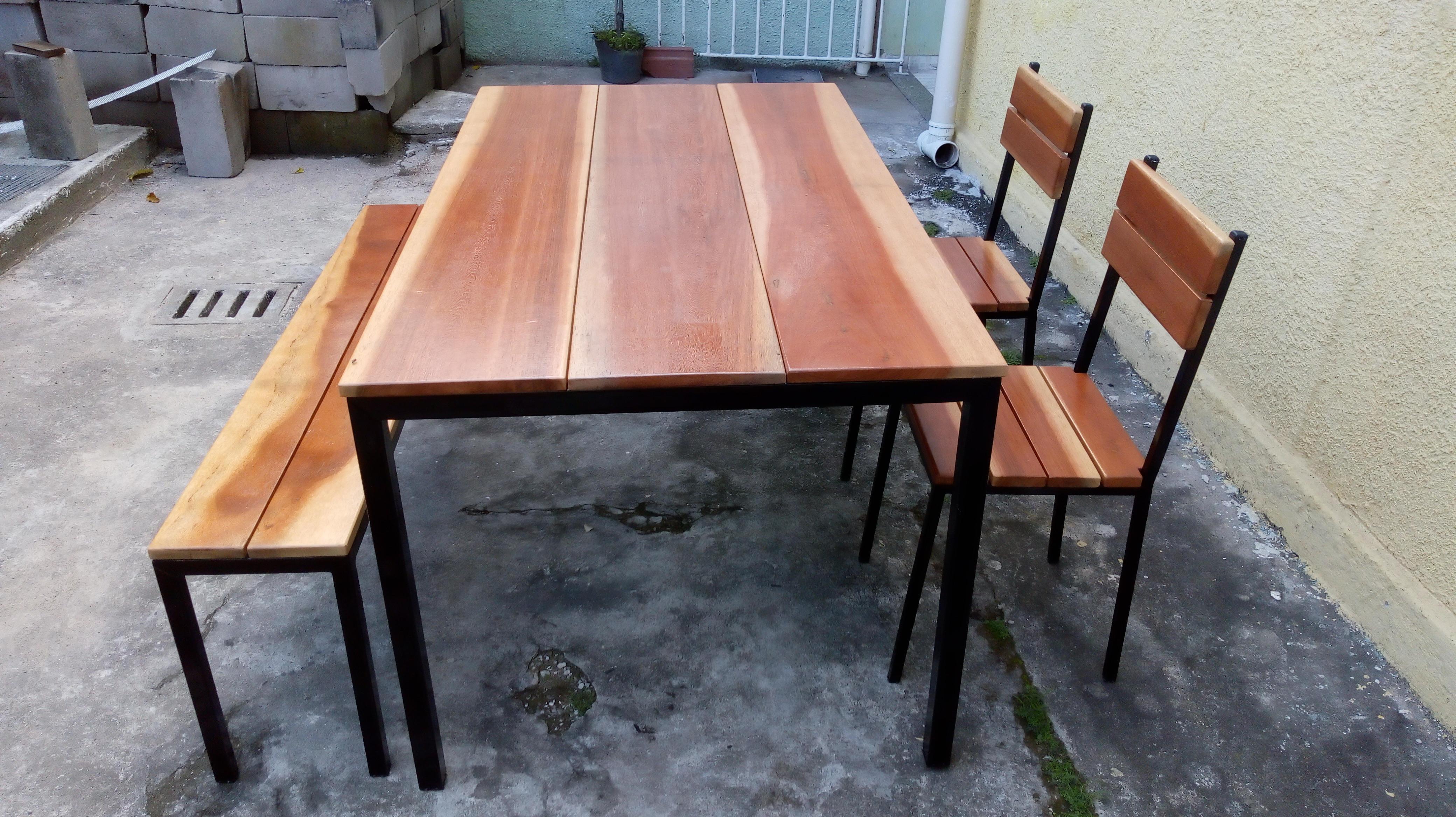 Conjunto Mesa e Cadeiras de Ferro para Jardim   Elo7 a021daa00e