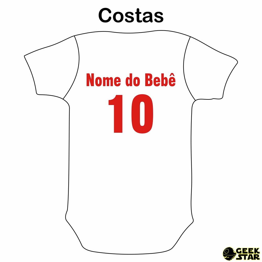 1083fa2655 Body Infantil Internacional Time de Futebol no Elo7